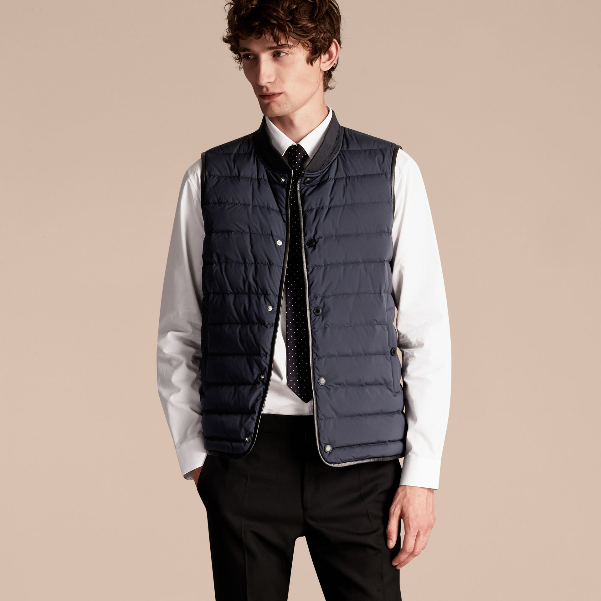 Navy Lightweight Field Jacket with Detachable Gilet - gallery image 5
