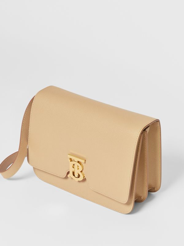Medium Grainy Leather TB Bag in Archive Beige - Women | Burberry Australia - cell image 3