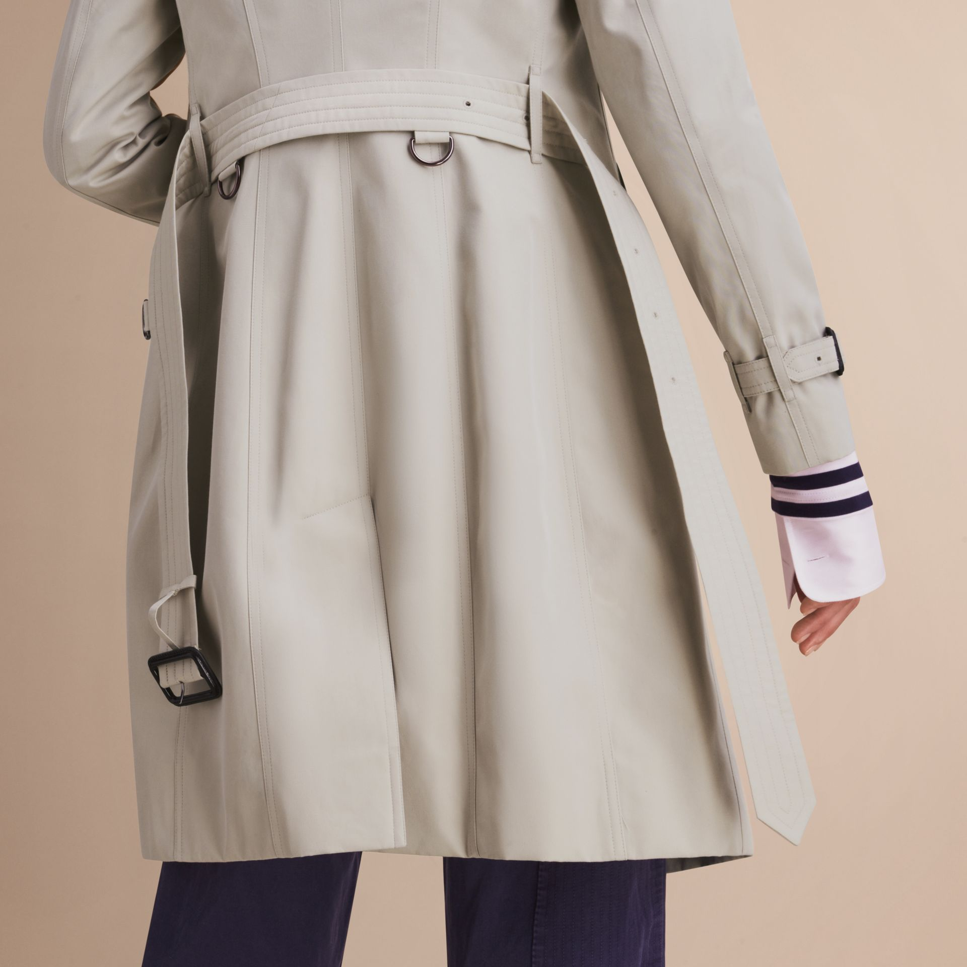 Stone The Sandringham – Long Heritage Trench Coat Stone - gallery image 6