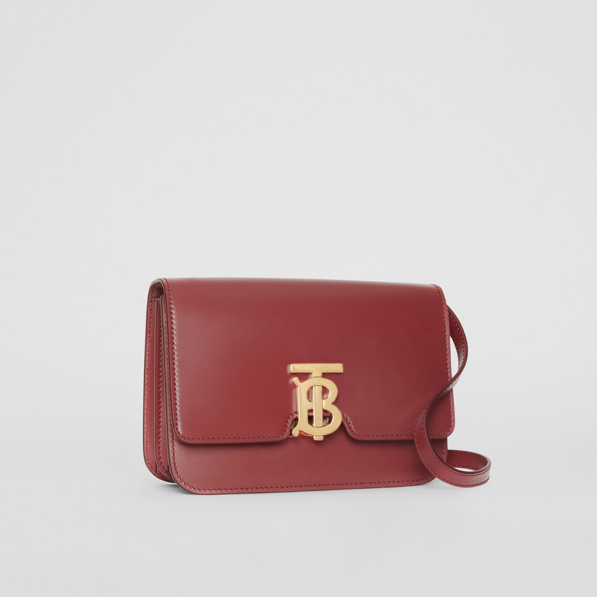 Small Leather TB Bag in Crimson - Women | Burberry United Kingdom - gallery image 6
