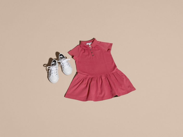 Peony rose Check Placket Cotton Blend T-Shirt Dress Peony Rose - cell image 4