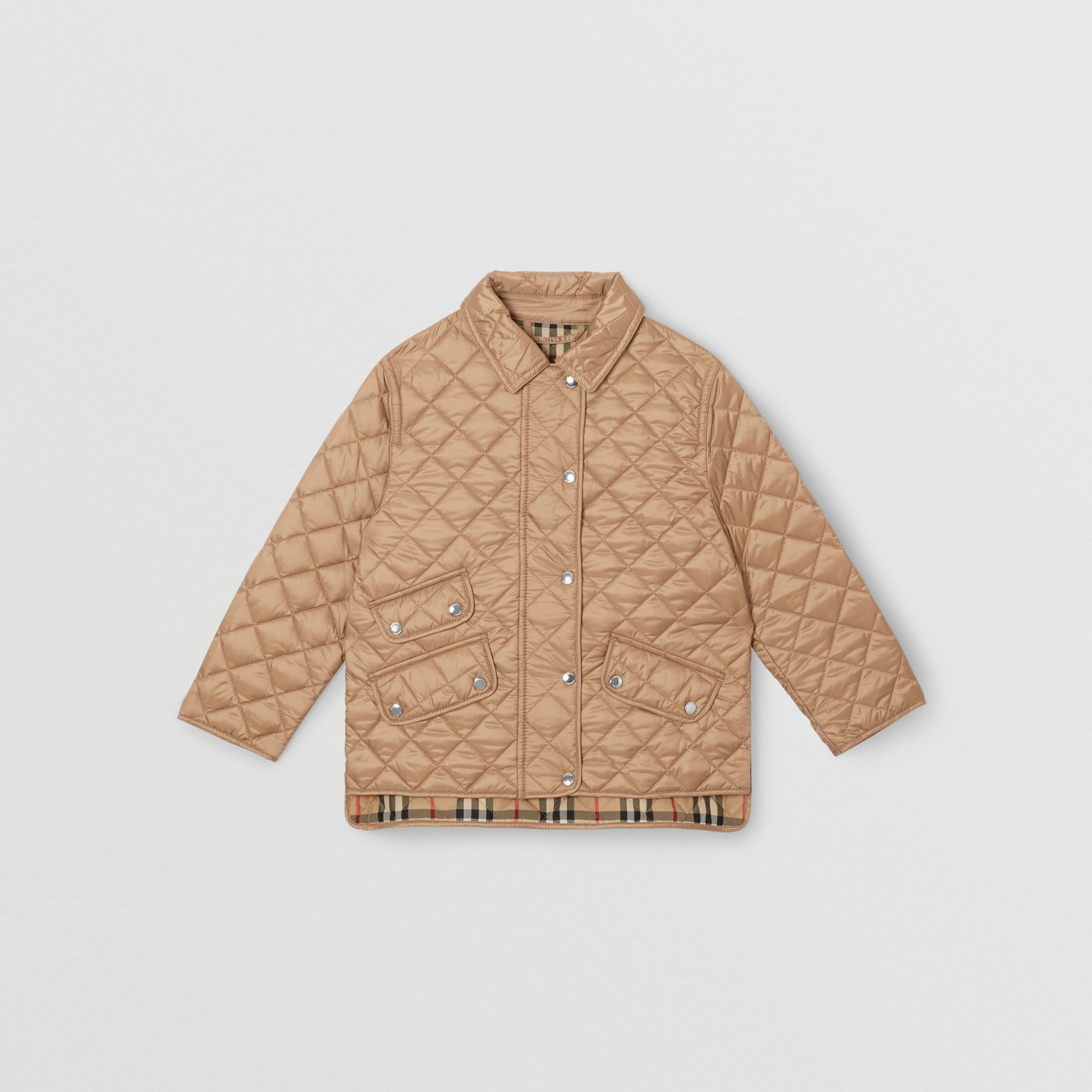 Lightweight Diamond Quilted Jacket in Honey | Burberry - 1