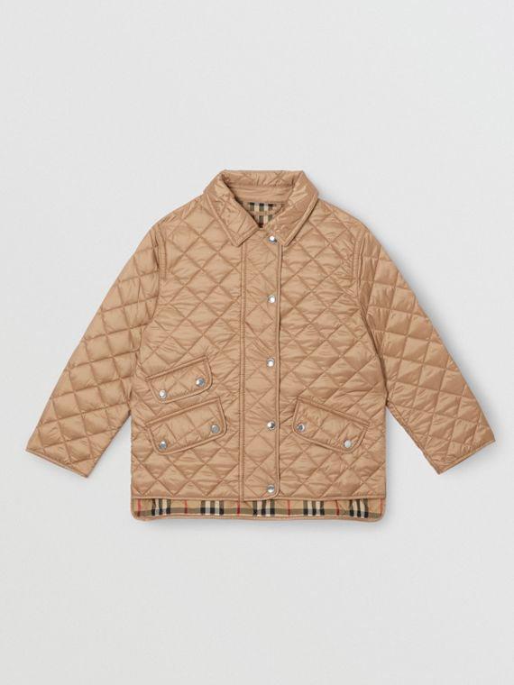 Lightweight Diamond Quilted Jacket in Honey