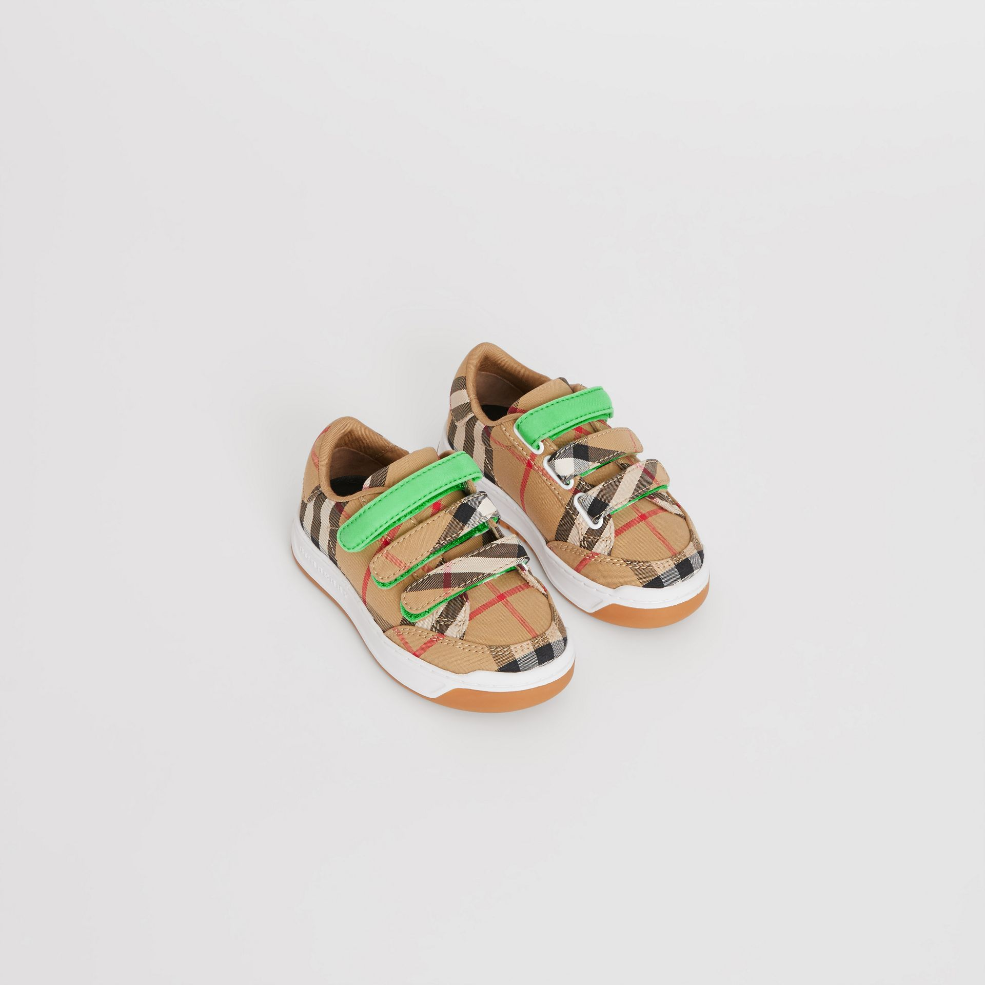 Vintage Check Sneakers in Antique Yellow/neon Green - Children | Burberry Hong Kong - gallery image 0