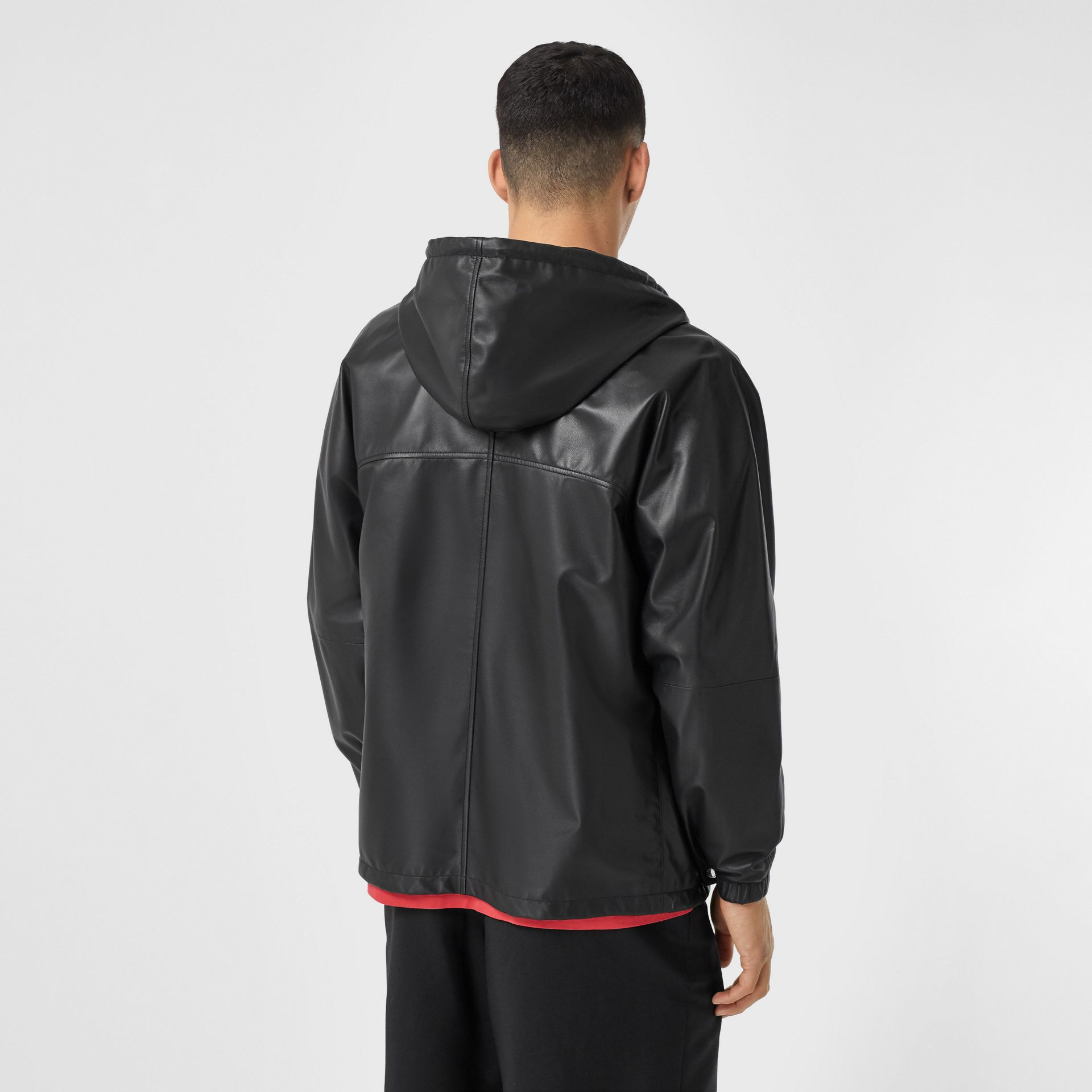 Reversible Lambskin and Nylon Hooded Jacket in Black - Men | Burberry - gallery image 2
