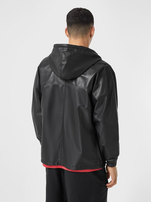 Reversible Lambskin and Nylon Hooded Jacket in Black - Men | Burberry - cell image 2