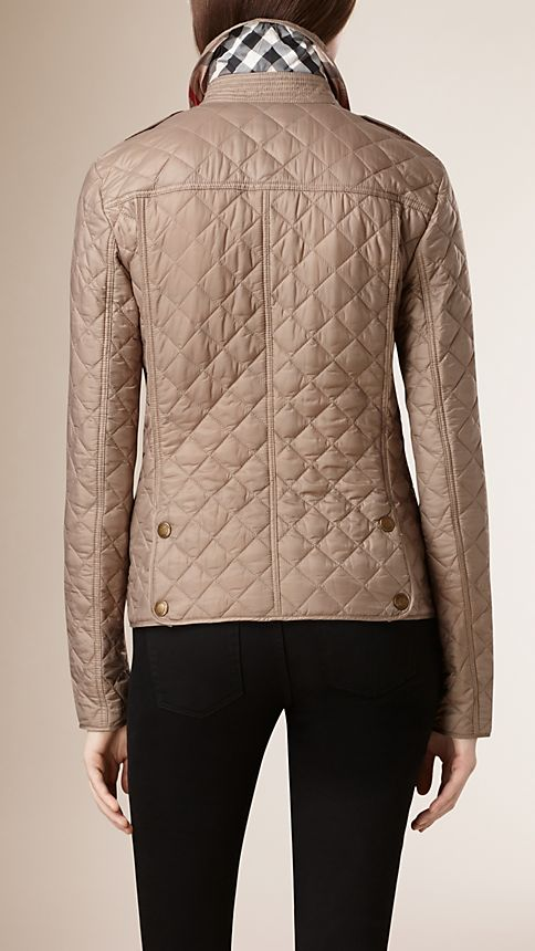Pale fawn Diamond Quilted Jacket Pale Fawn - Image 3