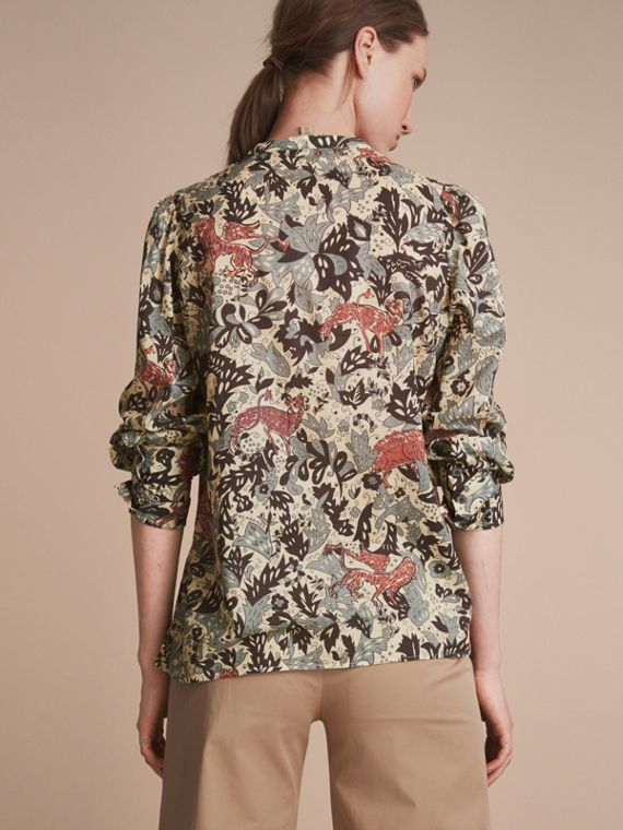 Beasts Print Cotton Tunic Shirt - Women | Burberry - cell image 2