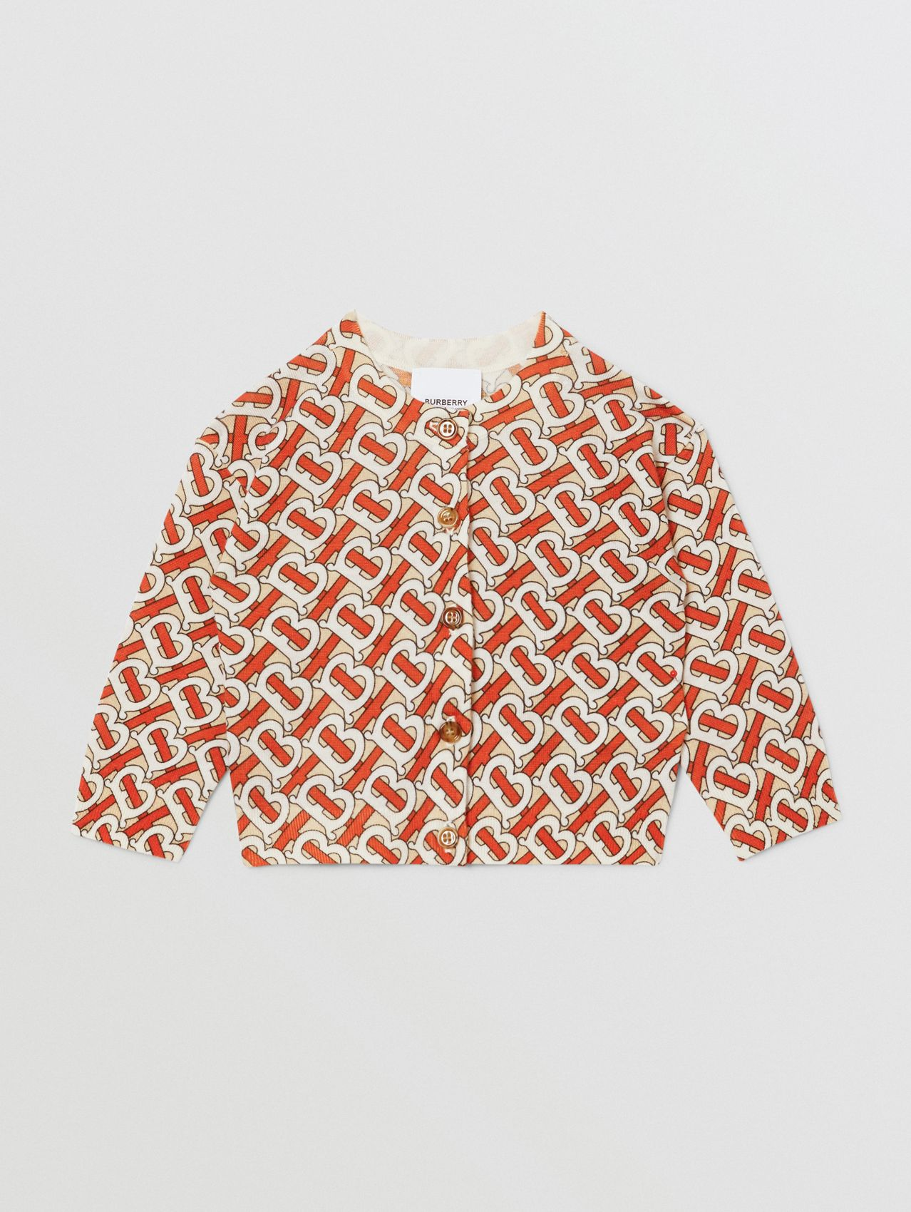 Monogram Print Merino Wool Two-piece Set in Vermilion