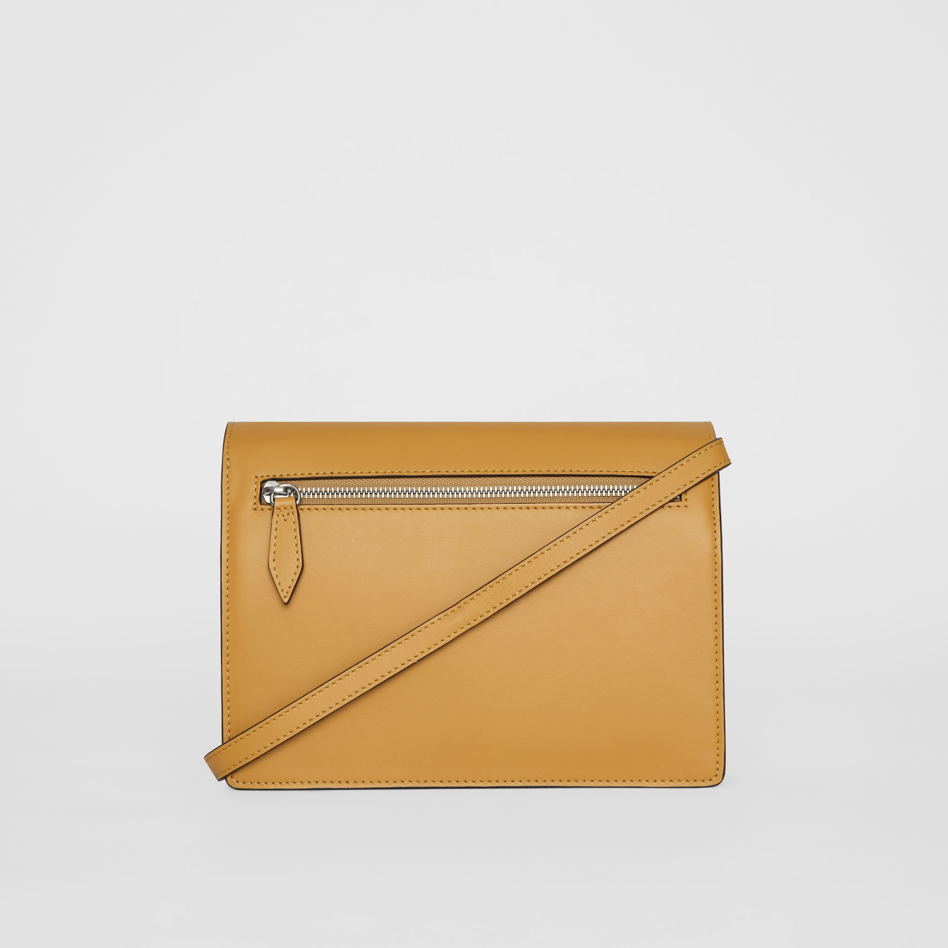 Two-tone Leather Crossbody Bag in Limestone/cornflower Yellow - Women | Burberry United Kingdom - gallery image 7