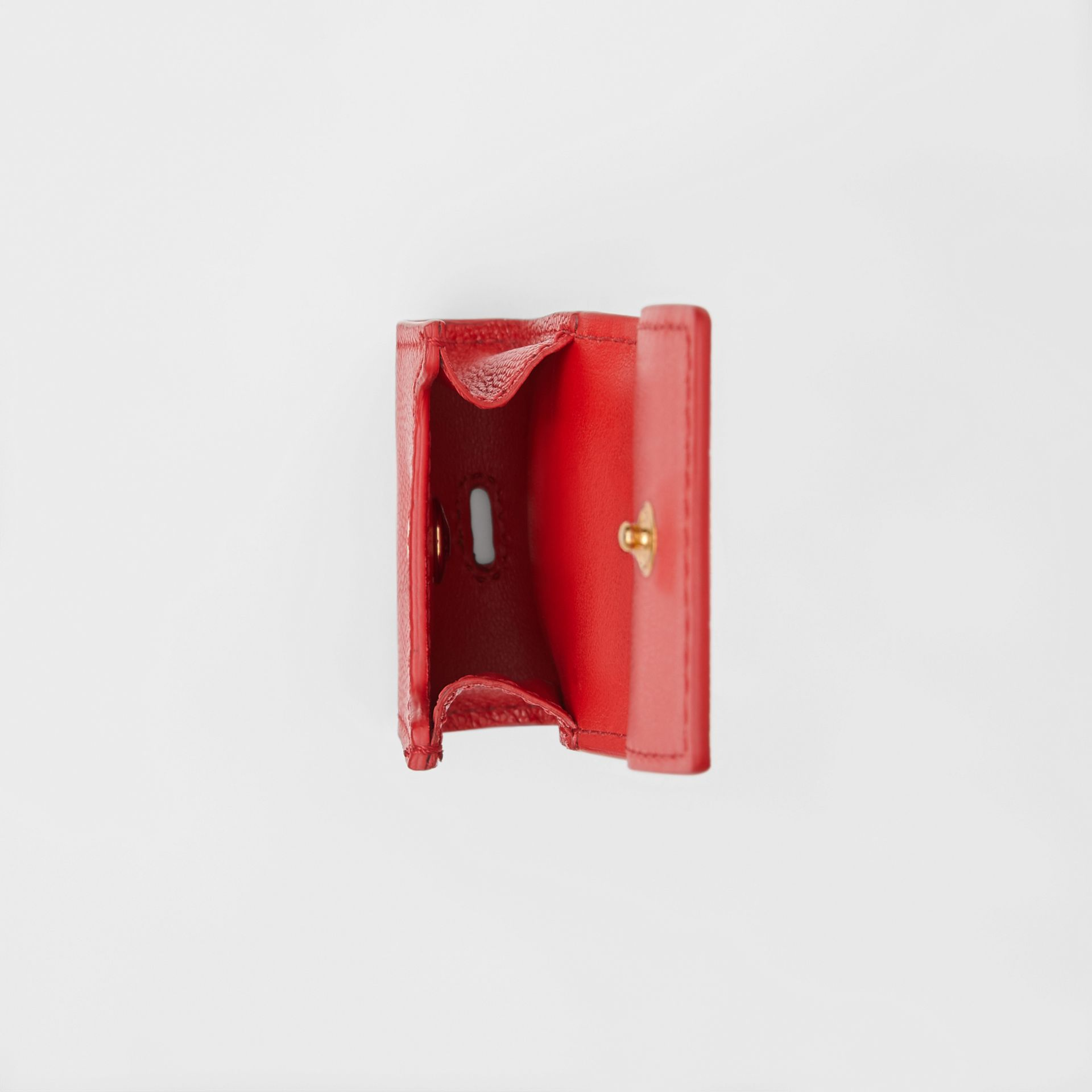 Grainy Leather AirPod Case in Bright Red | Burberry United States - gallery image 2