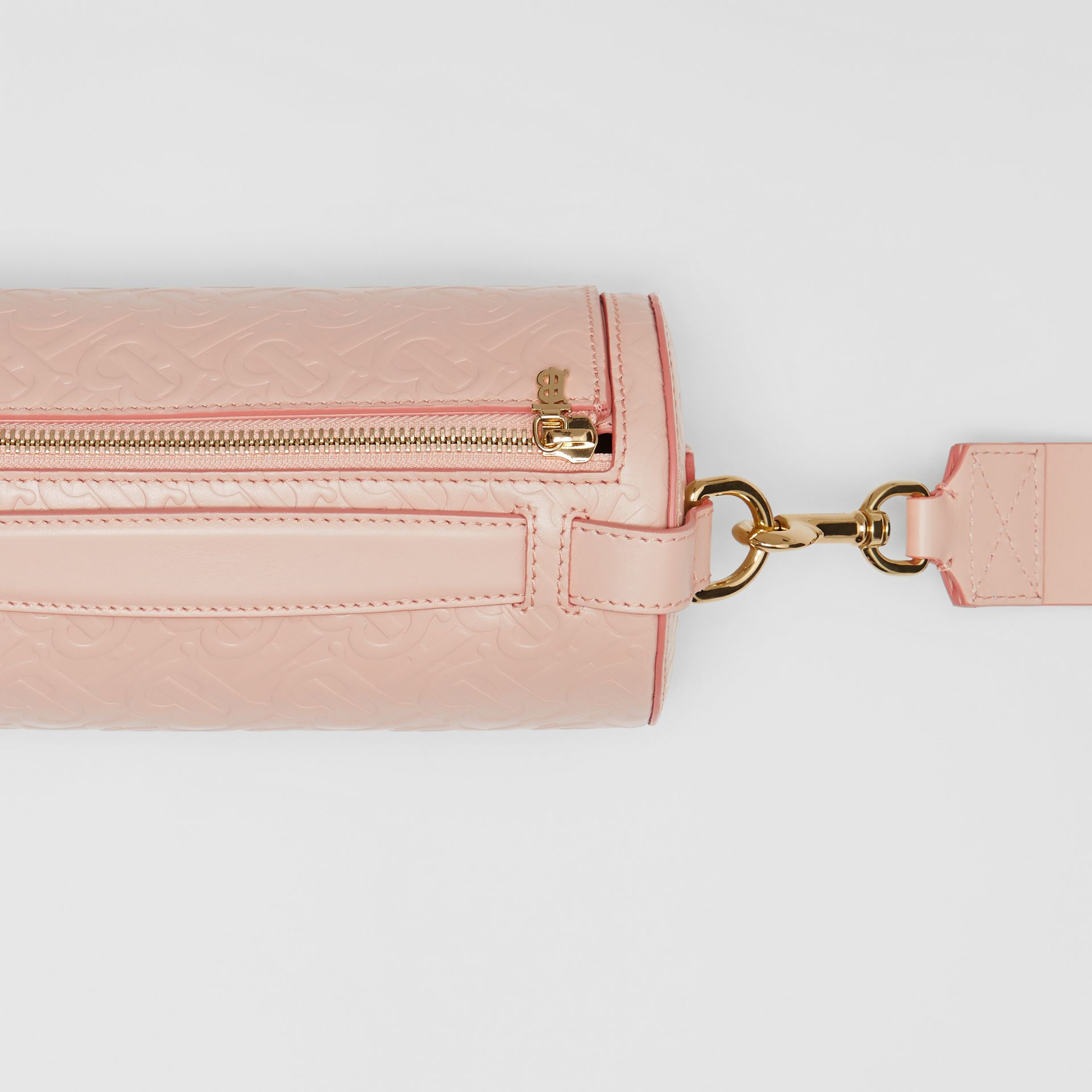 The Monogram Leather Barrel Bag in Rose Beige - Women | Burberry Canada - gallery image 1