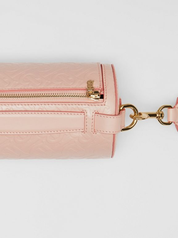 The Monogram Leather Barrel Bag in Rose Beige - Women | Burberry Australia - cell image 1