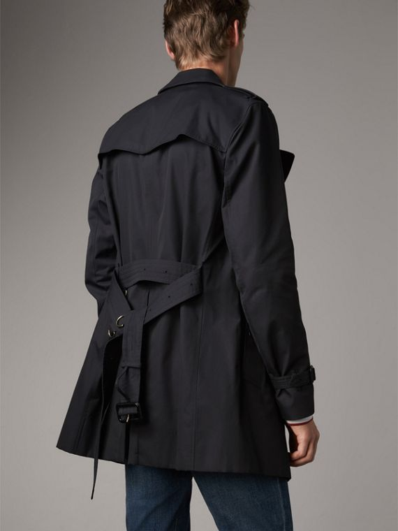 The Kensington – Mid-length Heritage Trench Coat in Navy - Men | Burberry Canada - cell image 2