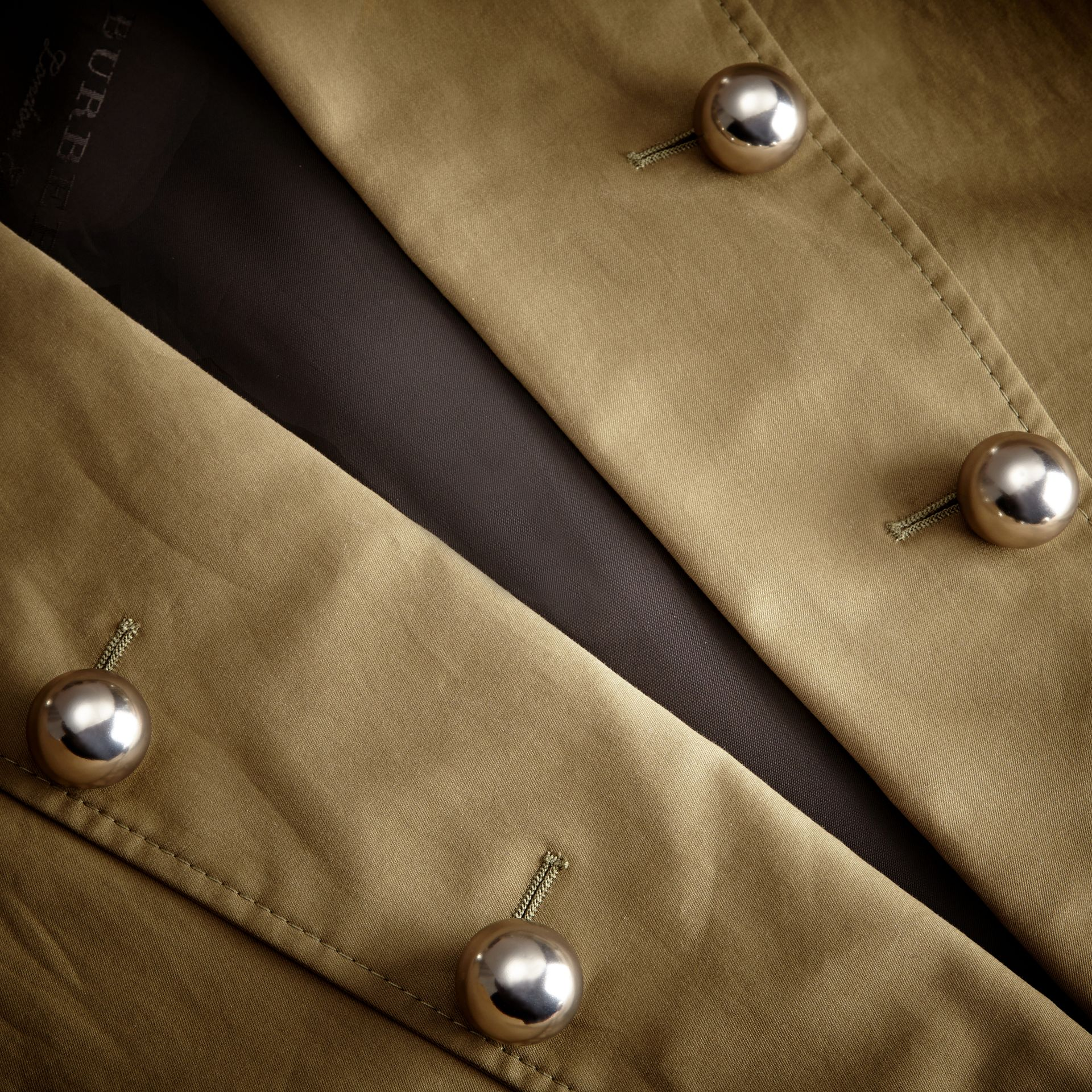 Sage Stretch Cotton Military Jacket - gallery image 2