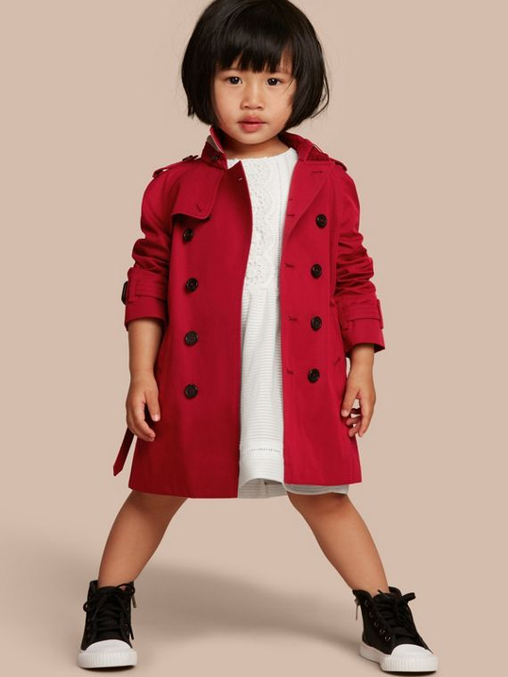 Trench coat Wiltshire - Trench coat Heritage Rojo Desfile