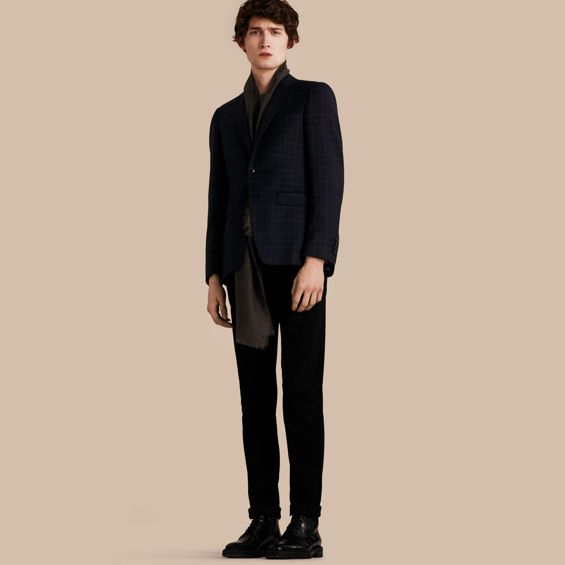 Ink Slim Fit Check Wool Tailored Jacket - gallery image 1