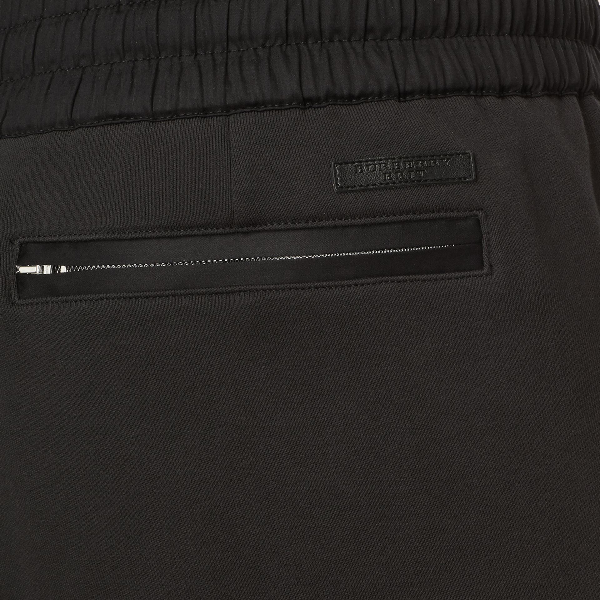 Black Cotton Sweat pants Black - gallery image 2
