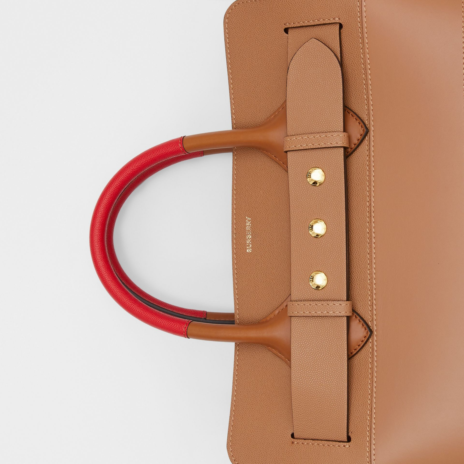 The Medium Panelled Leather Triple Stud Belt Bag in Warm Camel/tan - Women | Burberry - gallery image 1