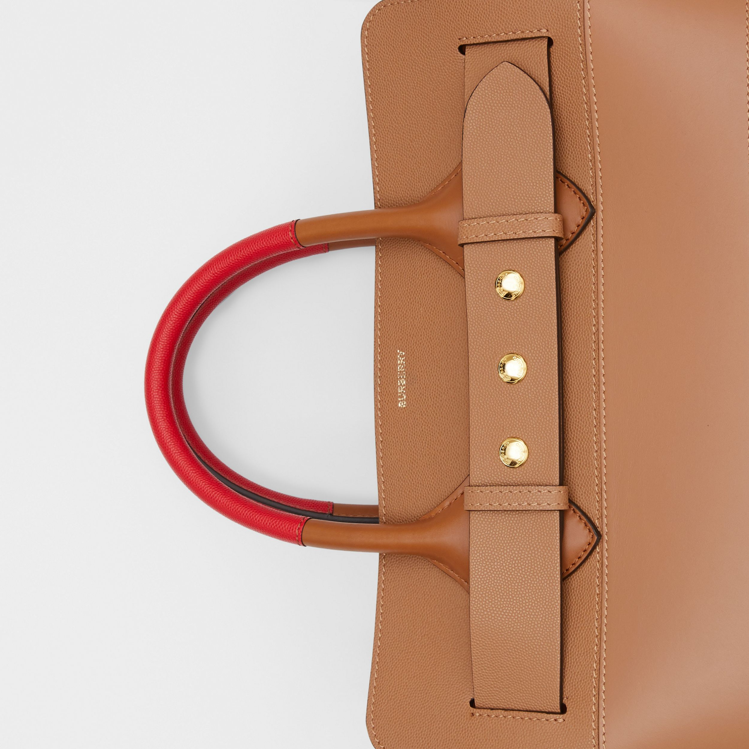 The Medium Panelled Leather Triple Stud Belt Bag in Warm Camel/tan - Women | Burberry - 2