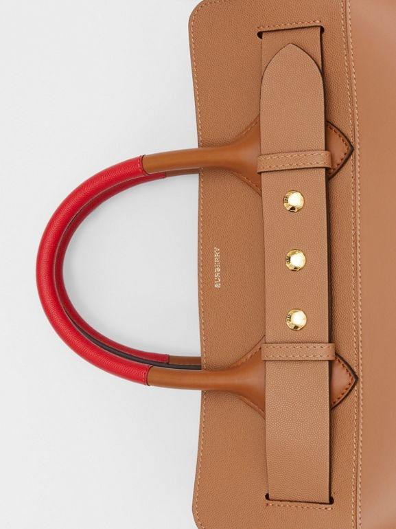 The Medium Panelled Leather Triple Stud Belt Bag in Warm Camel/tan - Women | Burberry - cell image 1