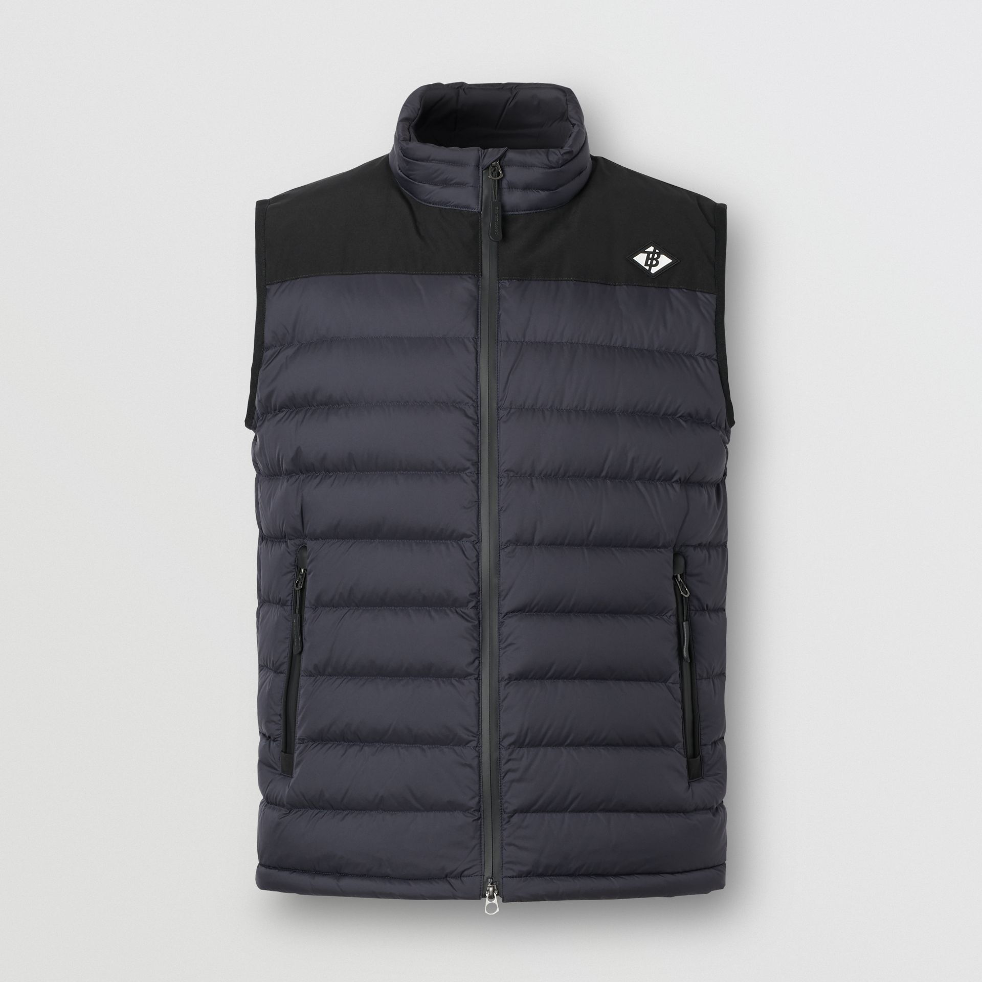Logo Graphic Puffer Gilet in Navy - Men | Burberry - gallery image 3