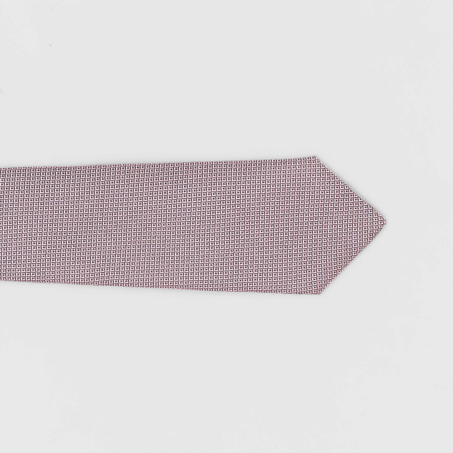 Classic Cut Micro Dot Silk Jacquard Tie in Hydrangea Pink - Men | Burberry - gallery image 1