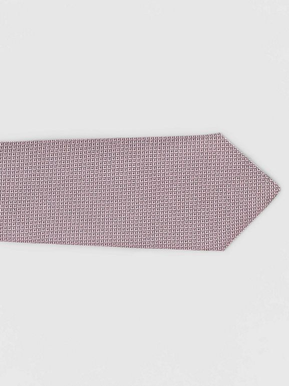 Classic Cut Micro Dot Silk Jacquard Tie in Hydrangea Pink - Men | Burberry - cell image 1