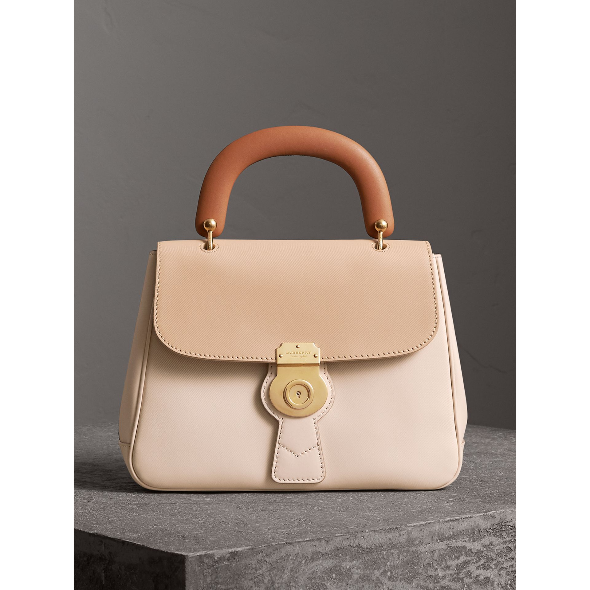 The Medium DK88 Top Handle Bag in Limestone/honey - Women | Burberry Singapore - gallery image 0