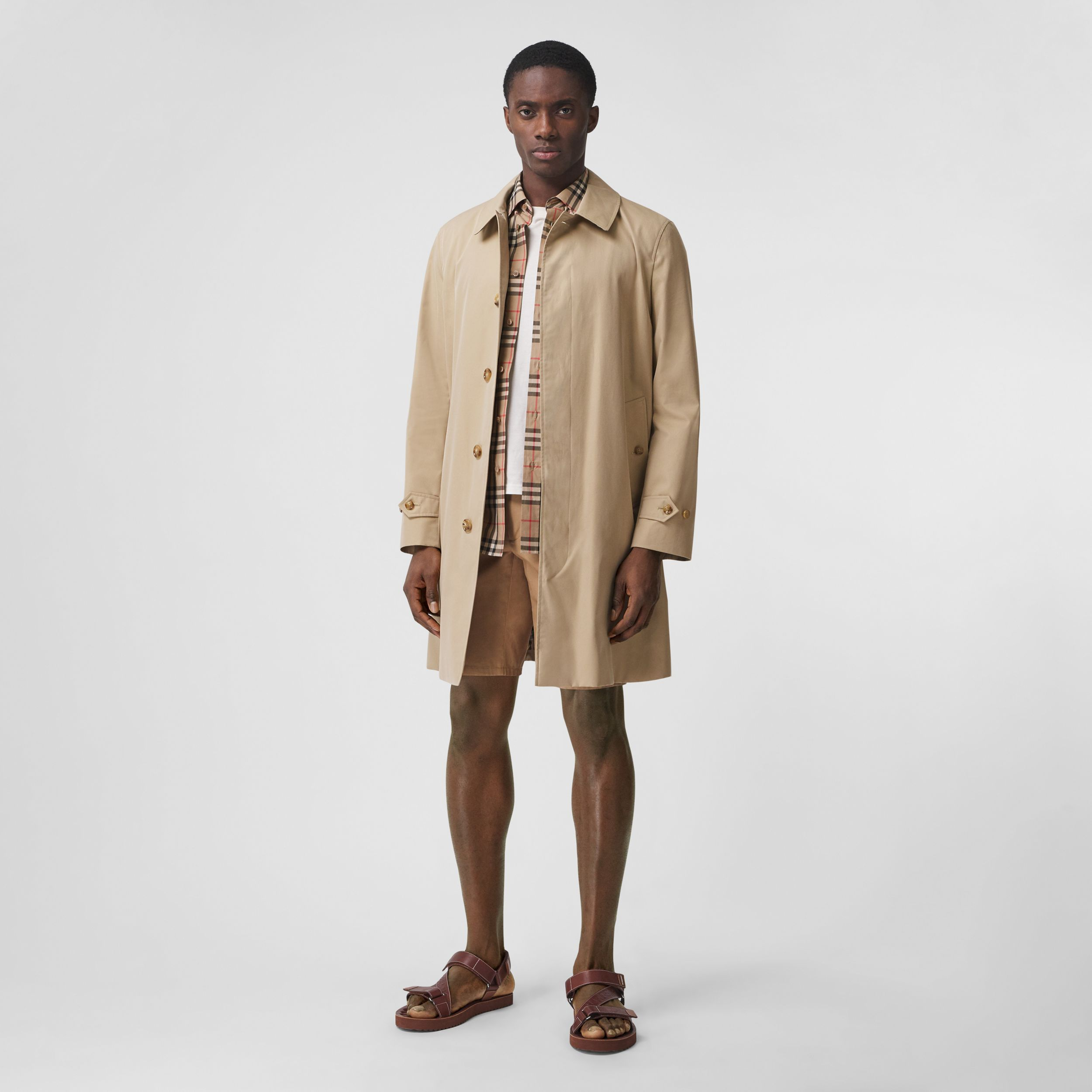 The Pimlico Heritage Car Coat in Honey - Men | Burberry - 1