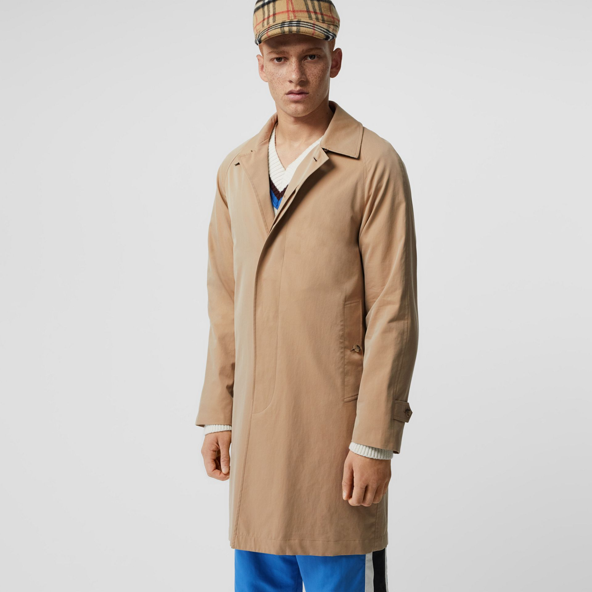 The Camden Car Coat in Honey - Men | Burberry Singapore - gallery image 5