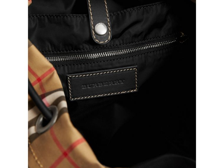 The Large Rucksack in Vintage Check in Antique Yellow - Men | Burberry Singapore - cell image 4