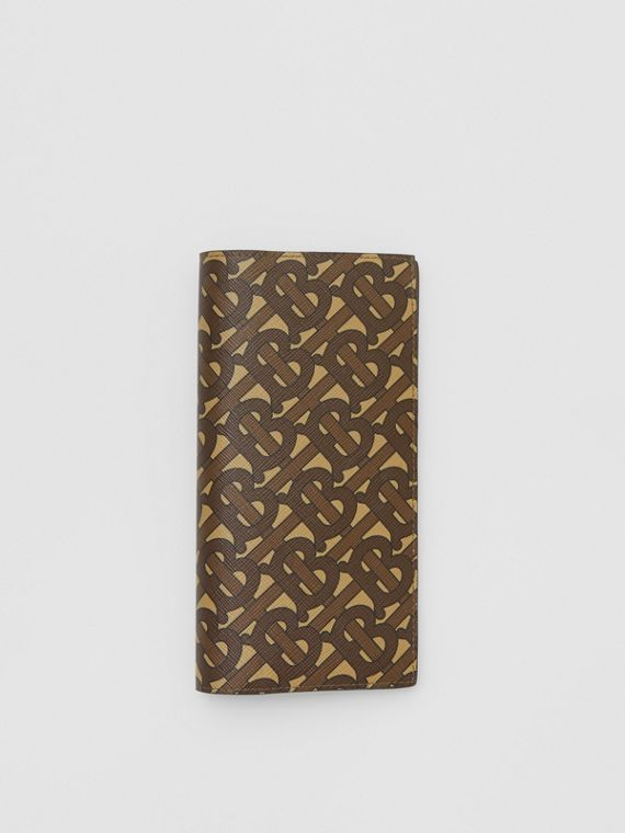 Monogram Print E-canvas Continental Wallet in Bridle Brown