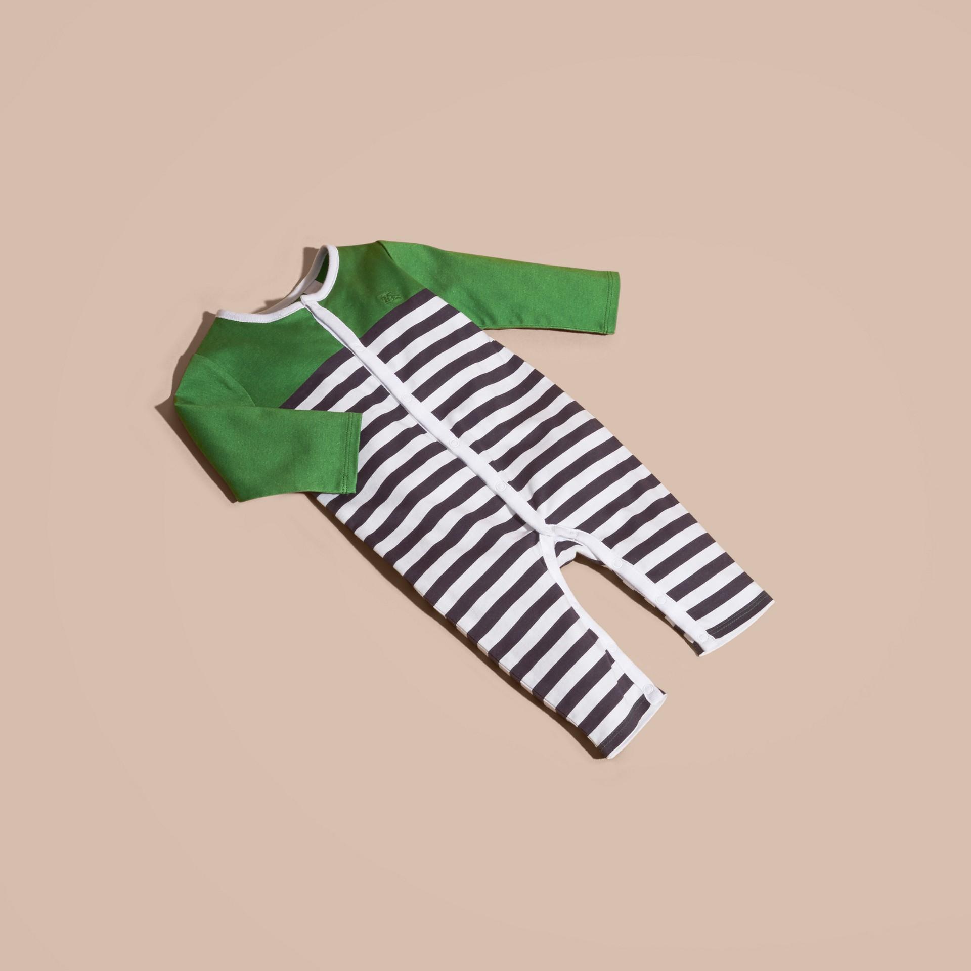Vert fougère vif Set cadeau deux pièces en coton - photo de la galerie 5