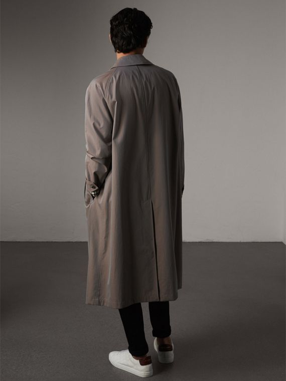 The Brighton Car Coat in Lilac Grey - Men | Burberry - cell image 2