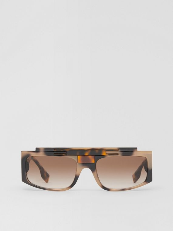 Rectangular Frame Sunglasses in Tortoiseshell