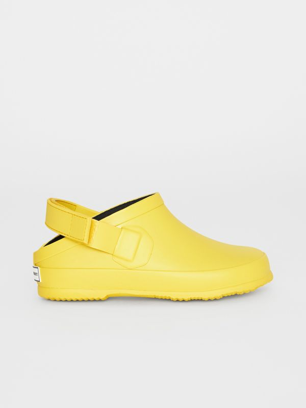 Check Detail Rubber Sandals in Citron - Children | Burberry - cell image 3