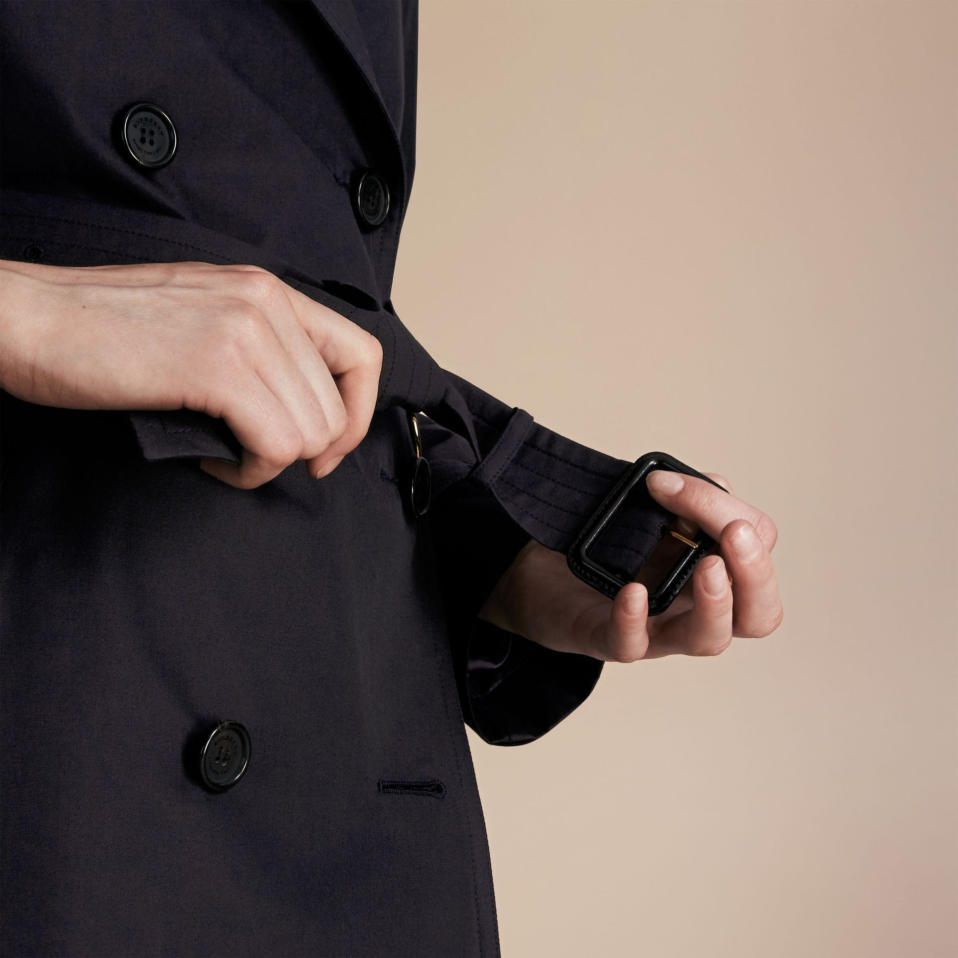 Navy The Westminster – Long Heritage Trench Coat Navy - gallery image 7
