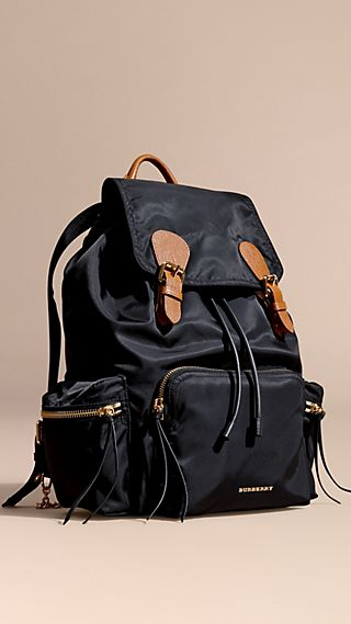 Grand sac The Rucksack en nylon technique et cuir