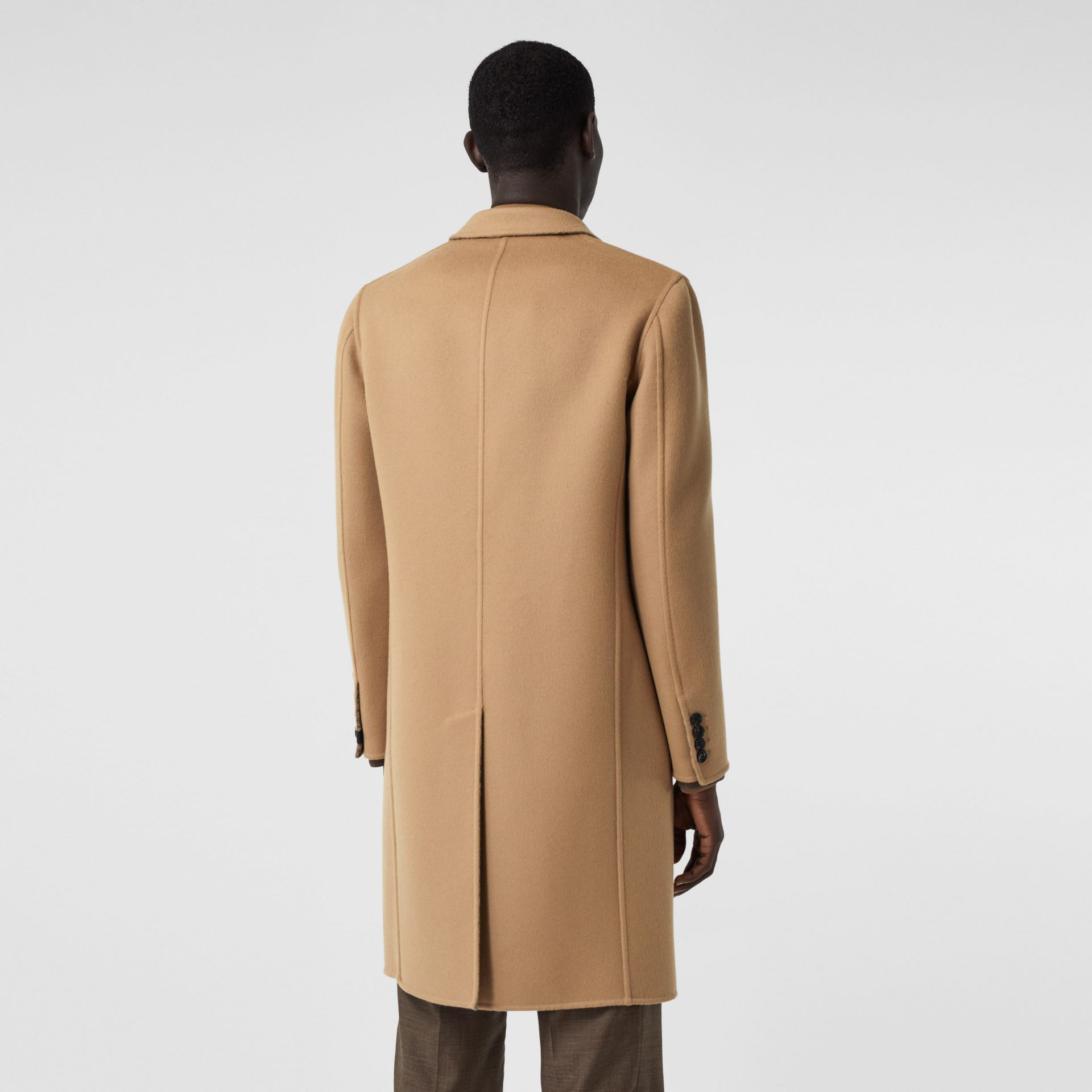 Double-faced Wool Tailored Coat in Soft Fawn/mid Grey Melange - Men | Burberry United Kingdom - gallery image 2