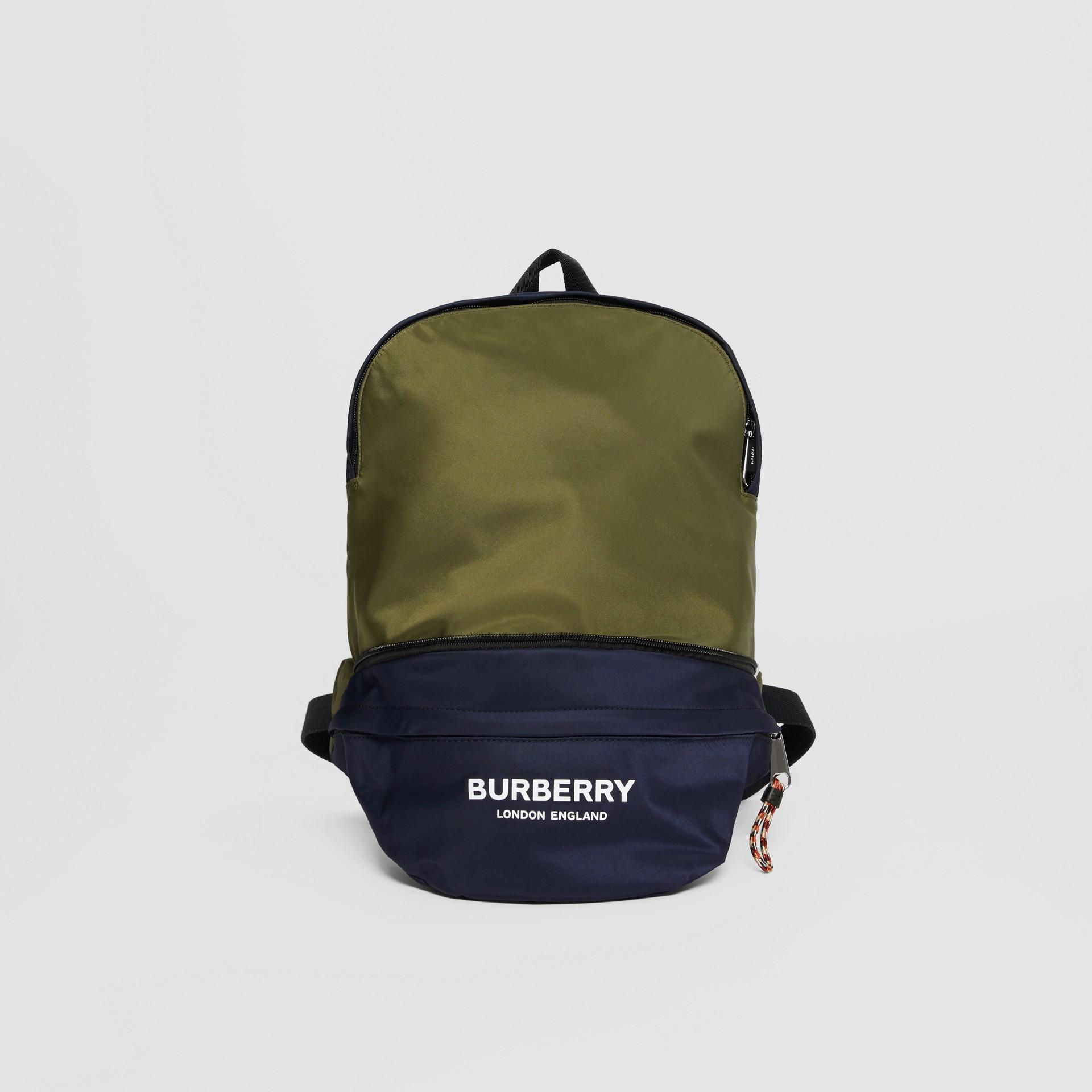 Двухцветная сумка-трансформер с логотипом (Регентский Синий) - Для детей | Burberry - изображение 0