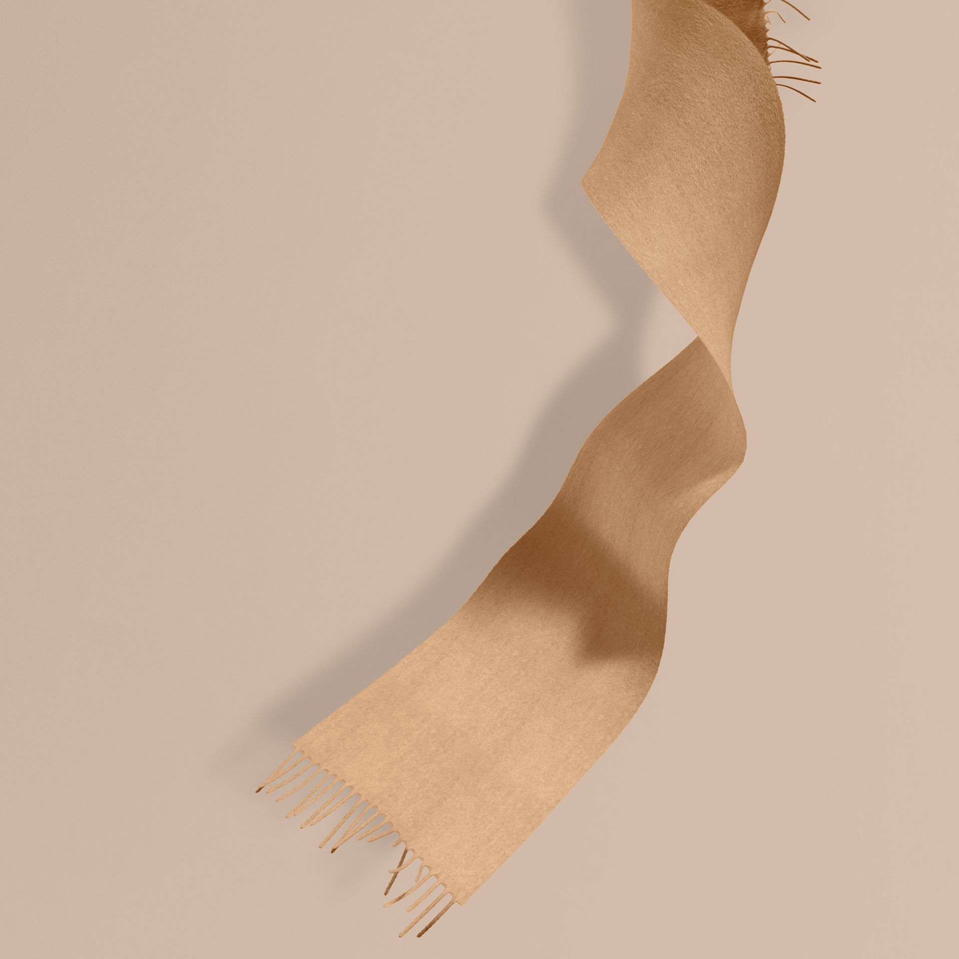 The Mini Classic Cashmere Scarf in Camel | Burberry Australia - gallery image 1