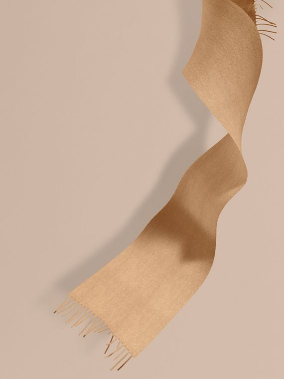 The Mini Classic Cashmere Scarf in Camel | Burberry
