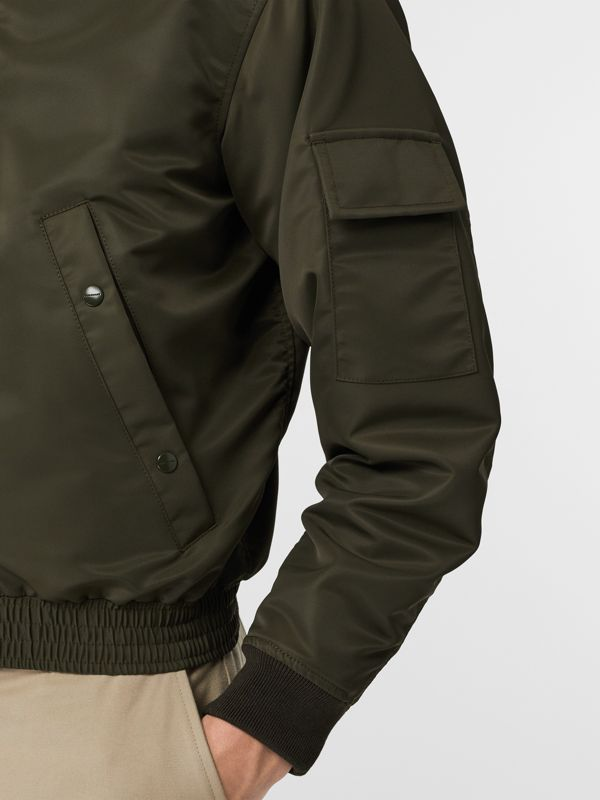 Padded Nylon Bomber Jacket in Dark Olive - Men | Burberry Australia - cell image 3