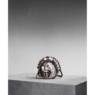 Leather and Snakeskin Pallas Helmet Shoulder Bag