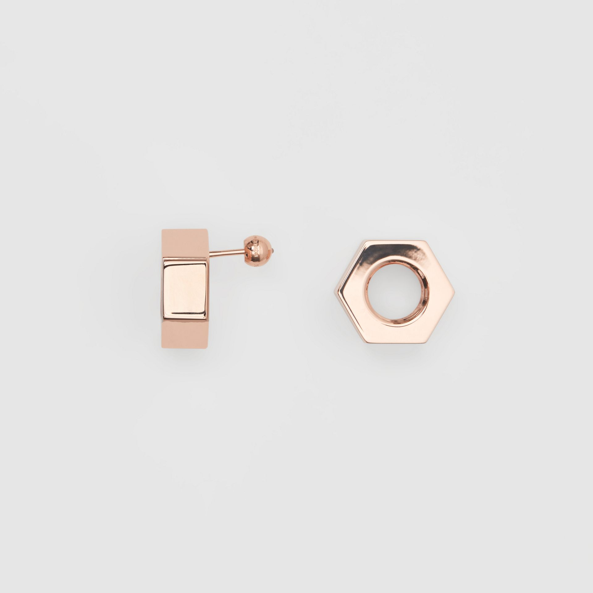 Rose Gold-plated Nut Earrings - Women | Burberry - gallery image 3