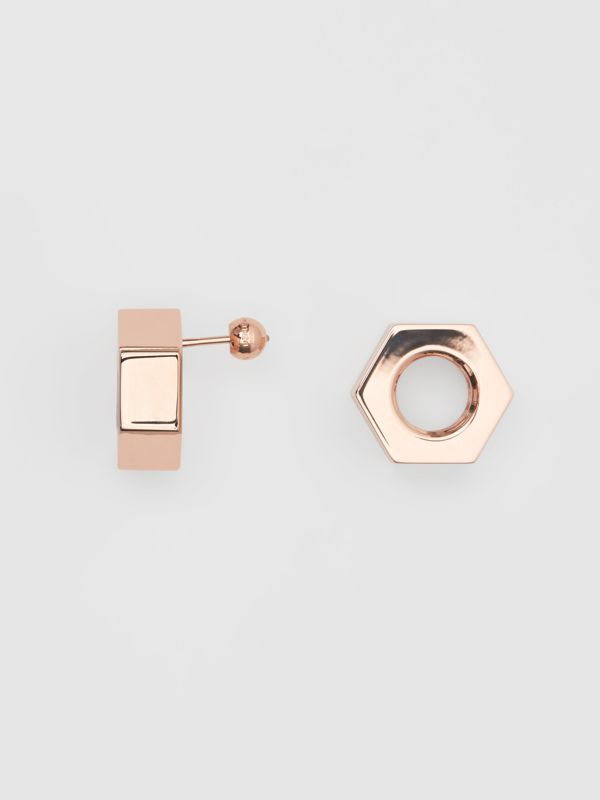 Rose Gold-plated Nut Earrings - Women | Burberry Singapore - cell image 3