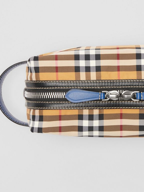 Vintage Check and Leather Pouch in Antique Yellow - Men | Burberry Australia - cell image 1