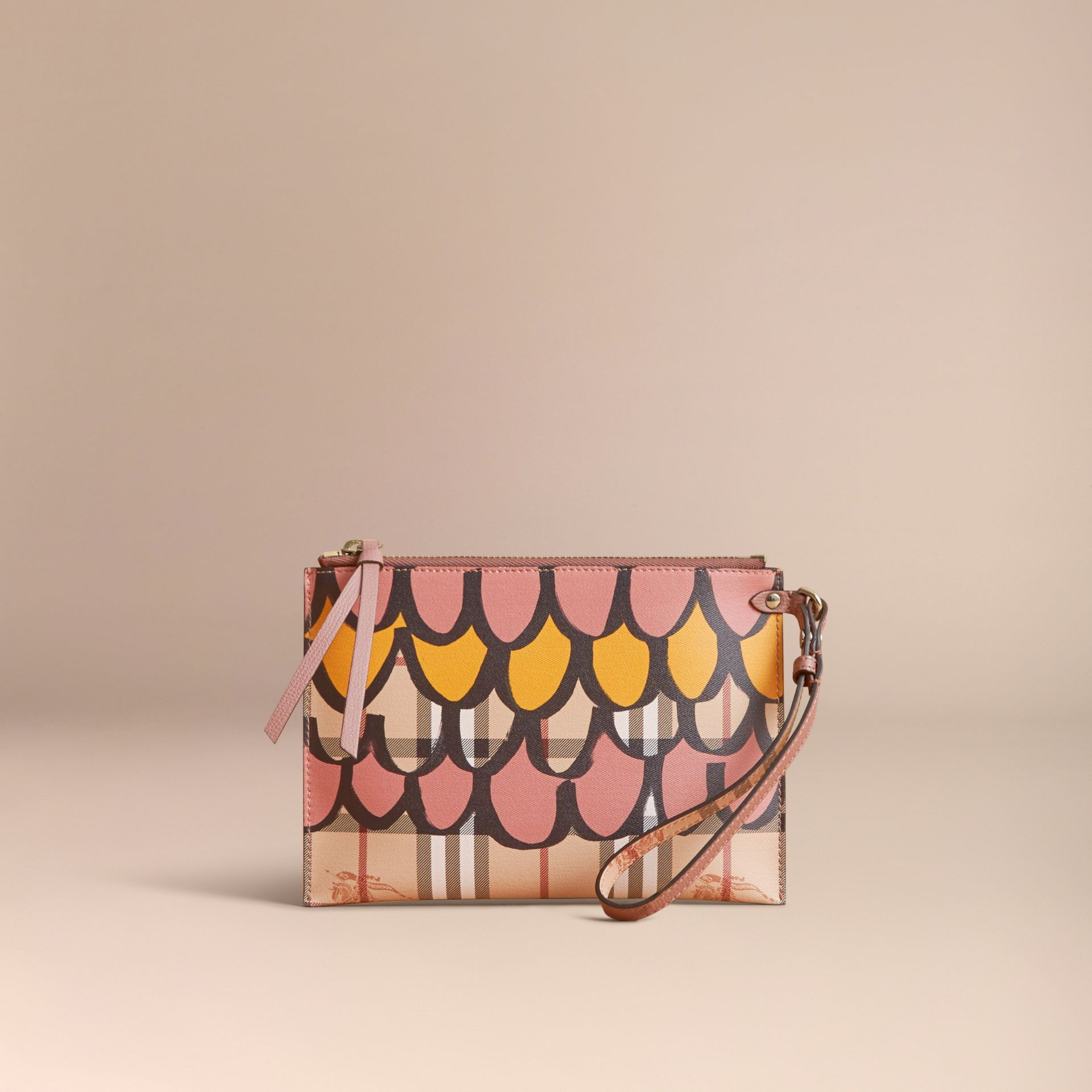 Trompe L'oeil Haymarket Check and Leather Pouch - Women | Burberry - gallery image 6