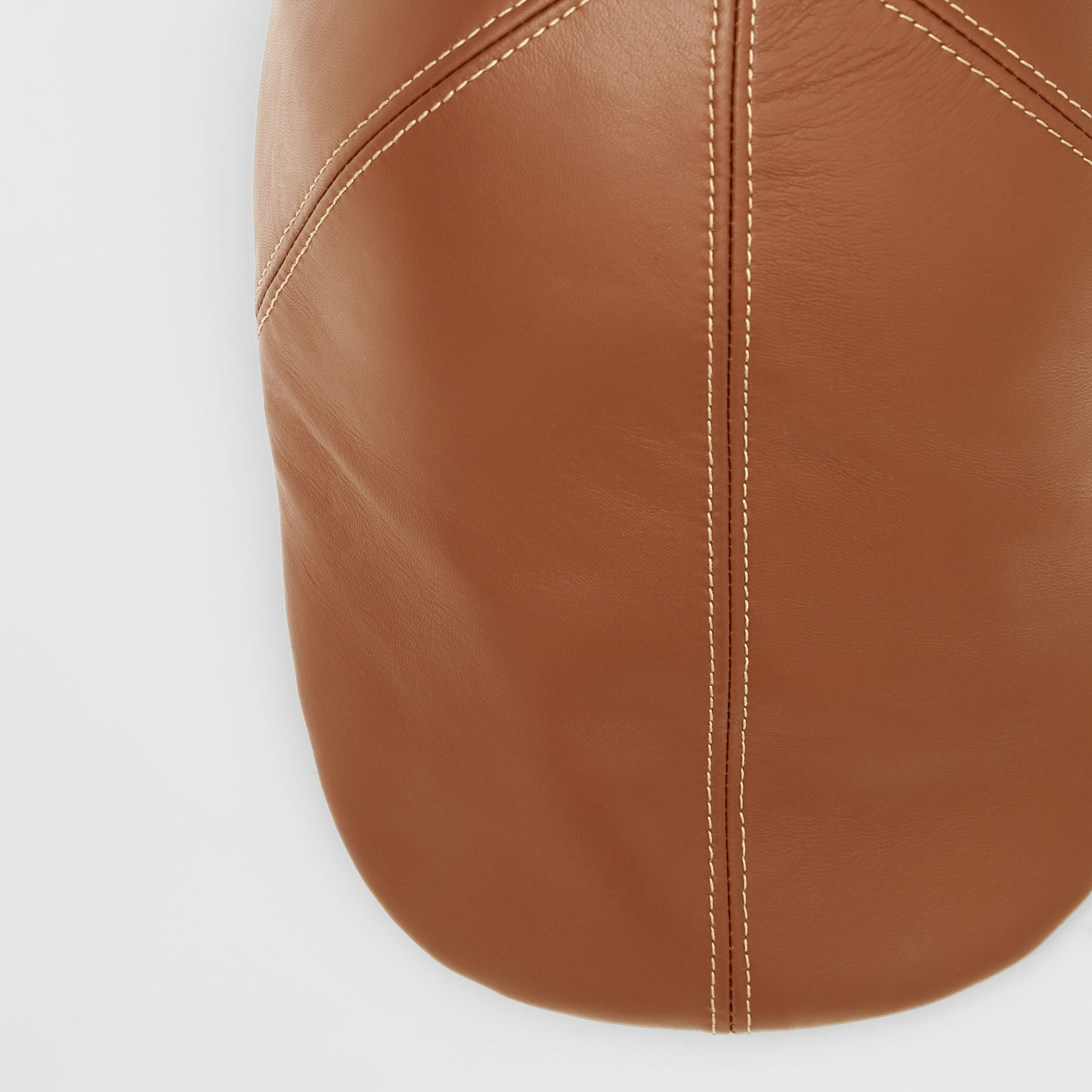 Lambskin Flat Cap in Tan | Burberry United Kingdom - gallery image 1